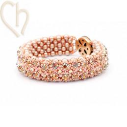 Kit armband Gaudy Zalmrose