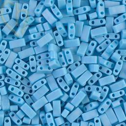 Turquoise Blue Opaque matted AB - Half Tila Miyuki - HTL-413FR