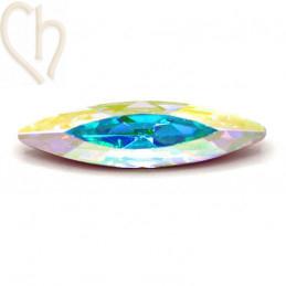 Slim Navette Aurora Crystal 35mm Crystal AB