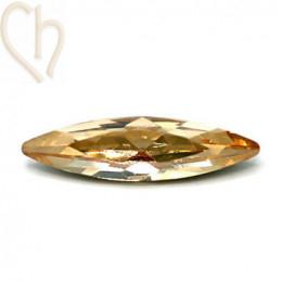 Slim Navette Aurora Crystal 35mm Golden Shadow