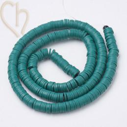Heishi Rings 4mm Turquoise String 40cm.