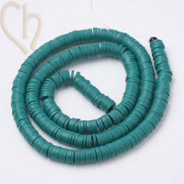 Heishi rondellen 4mm Turquoise String 40 cm.