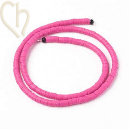 Heishi Rings 4mm Fuchsia String 40cm