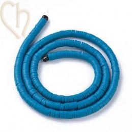 Heishi rondellen 4mm Blauw String 40 cm.