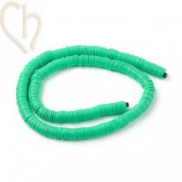 Heishi Rings 8mm Green String 40cm