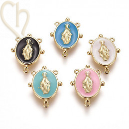 Charms olv 17mm email Gold...