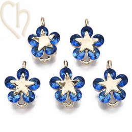 Charms bloem 12mm Gold Plated