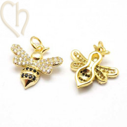 Charms bee 16mm with strass...
