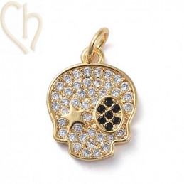 Charms skull 15mm with...