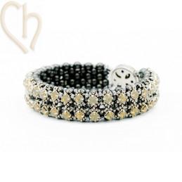 Kit armband Gaudy Grijs zwart