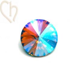Rivoli 14mm 1122 Aurora Crystal - Light Peach Shimmer