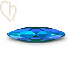 Slim Navette Aurora Crystal 35mm Royal Blue Delite