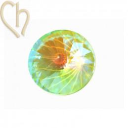 Rivoli 08mm 1122 Aurora Crystal - Mint Green Delite
