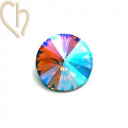 Rivoli 08mm 1122 Aurora Crystal - Light Peach Shimmer