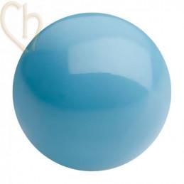 Preciosa 4mm AQUA BLUE Round Nacré Pearl Maxima