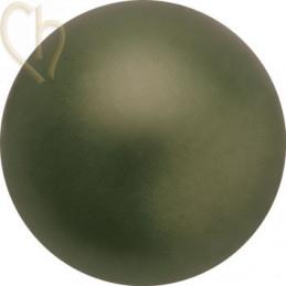 Preciosa 4mm DARK GREEN Round Nacré Pearl Maxima