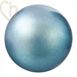 Preciosa 4mm PEARLESCENT BLUE Round Nacré Pearl Maxima