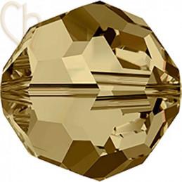 Preciosa Crystal Round Bead 6mm Light Colorado Topaz