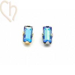 Baguette 5*2,5mm Aurora Crystal - Sapphire Shimmer