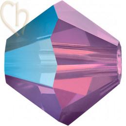 Preciosa Crystal Rondelle Bead 4mm Amethist Opal AB