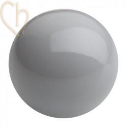 Preciosa 4mm Ceramic Grey Round Nacré Pearl Maxima
