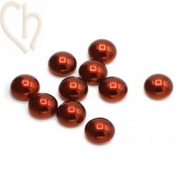Nacré Cabochon Preciosa 8mm - Dark Copper