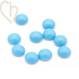 Nacré Cabochon Preciosa 8mm - Aqua Blue
