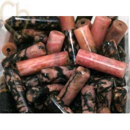 Cilinder natuursteen 13*4mm Rhodonite