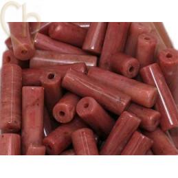 Tube 13*4mm natural stone - Rhodonite Rose Naturelle
