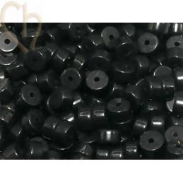 Rondel natuursteen 2*4mm Agathe Black
