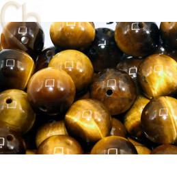 Gemstone round 10mm - Oeil de Tigre - Tigereye