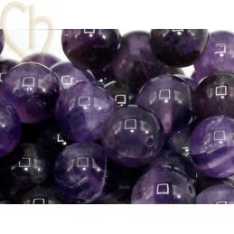 Gemstone round 12mm - Amethist