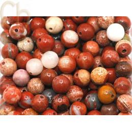 Gemstone round 4mm - Jaspe Rouge