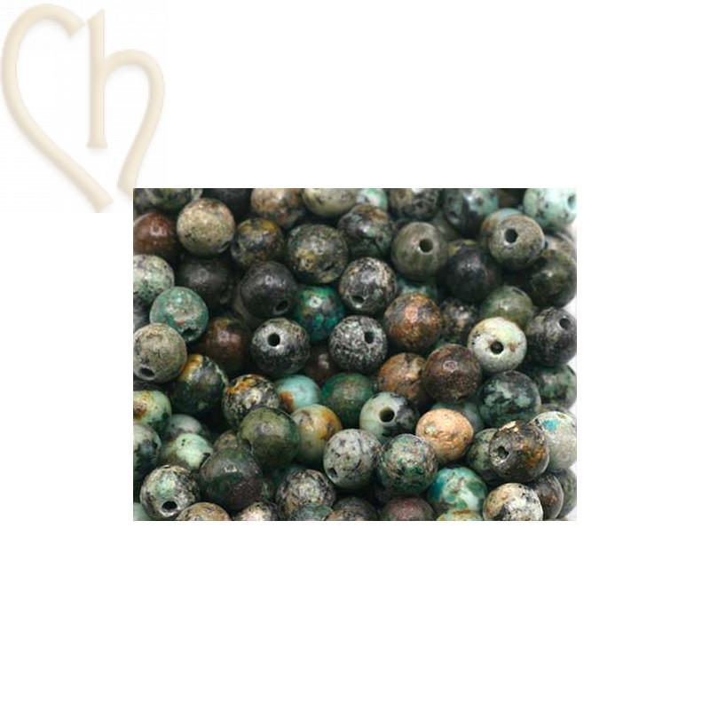 Gemstone round 4mm - Turquoise d'Afrique
