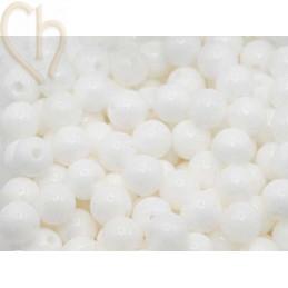 Gemstone round 4mm - Agate Blanc