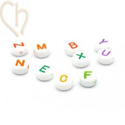 Letter Beads round color 6mm