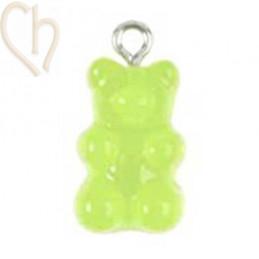 Beertje hanger gummibeer  20mm Groen