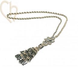 Kit necklace Slim Navette Grey Steel