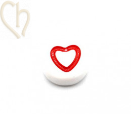 Beads round heart color 6mm