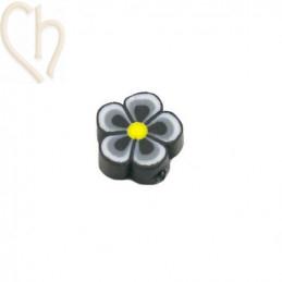 Bloem polymeer 10mm Zwart wit