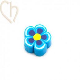 Bloem polymeer 10mm Blauw Wit