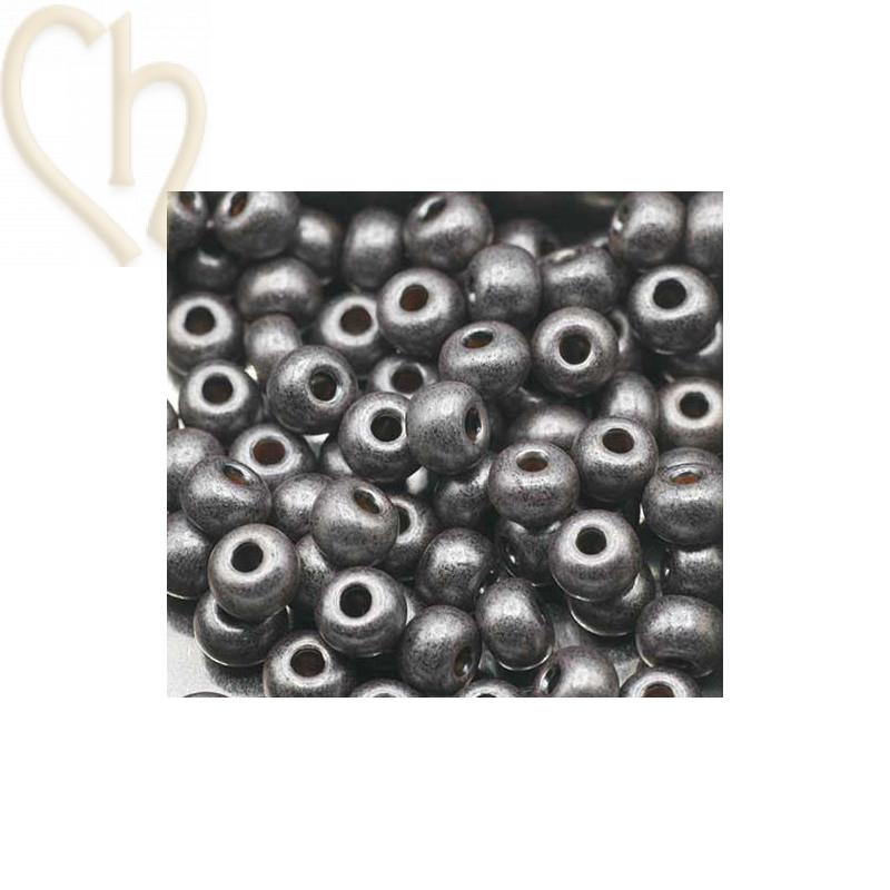 Seedbeads 4/0 Grey Metallic