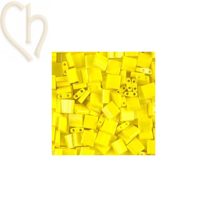 Miyuki Tila bead Yellow Ab Opaque - TL404