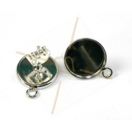 earrings disk 12mm with ring