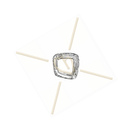 Cosmic Square Ring 20mm