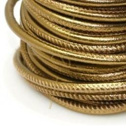 Cuir rond 4mm Dark Gold