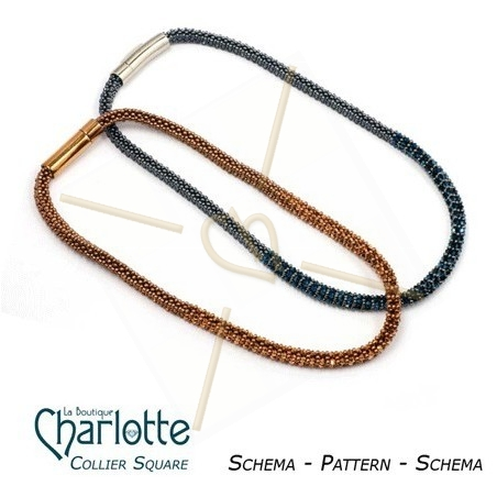 """Pattern necklace """"Square"""""""