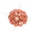 Tamis Strass 15mm lt. Peach Rose Gold