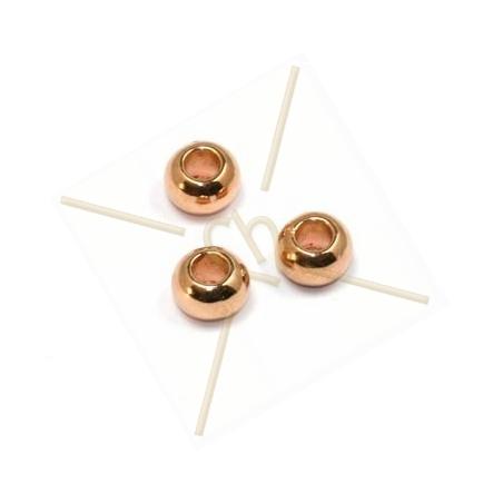 metalen bol 7*5mm gaatje 3.7mm rose goud