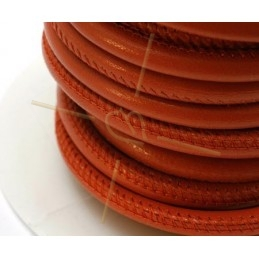 Leather round 6mm Rouille